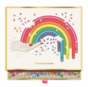 Jonathan Adler Rainbow Hand 750 Piece Shaped Puzzle by Galison